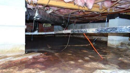 Flooded crawlspace - Kinston, North Carolina
